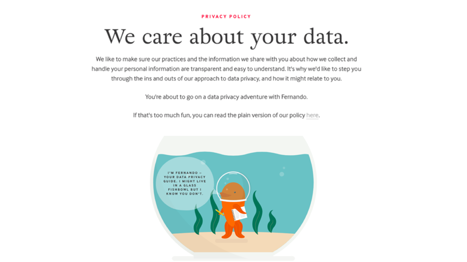 Data Privacy User Experience at August